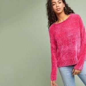 Sanctuary x Anthropologie Pink Chenille Sweater